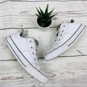 Converse White Genuine Leather Low Top Sneakers
